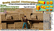 WAREHOUSE SHELVING-PALLETED BOXES/BAGS-OPEN fsm 1;87-Scale Model Masterpieces