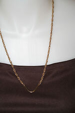 GOLD TONE CHAIN WITH CHEVRON-CAN BE WORN WITH PENDANT 25 INCHES LONG 1980'S!
