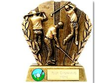Multi golf action resin trophy boxed golf day stag do trophies free engraving