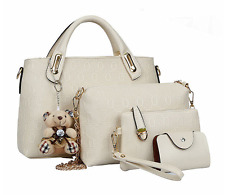Women Crocodile Handbags, Ladies Crossbody Bags, Clutches, Purse (WHITE - 4 pcs)