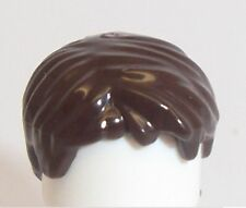 Lego Short Boy Wig Hair x 1 Dark Brown for Minifigure