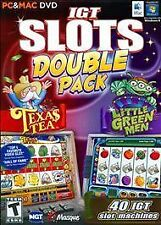 IGT SLOTS DOUBLE PACK TEXAS TEA & LITTLE GREEN MEN