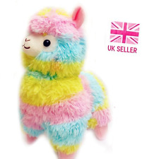Large Cute Rainbow Alpaca Plush 38cm Tall Kawaii Soft Llama Toy Gift Japanese