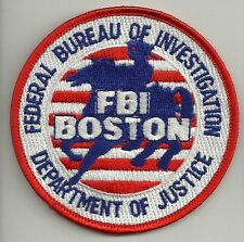 Fbi: boston Massachusetts Police Patch SEK policía Patch (swat S.W.A.T.)