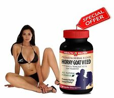 Increased Libido - Horny Goat Weed 1000mg - Macca - Tongkat Ali - 1B 60Ct