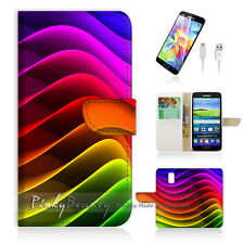 Samsung Galaxy S5 Flip Phone Case Cover PB10244 Rainbow Wave