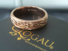 Clogau Welsh 9ct Rose Gold Celtic Eternal Love / Annwyl  Ring  - size L