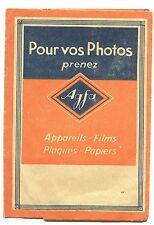 POCHETTE PUBLICITAIRE DE PHOTO AGFA