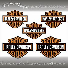 5 DECAL ADESIVI STICKERS BAR AND SHIELD HARLEY DAVIDSON MOTO CUSTOM CHOPPER