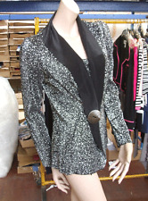 Joseph Ribkoff UK10 BNWT Magnificent Black & Silver Metallic Light Weight Jacket