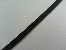 5 Metres 5 mm Flat Black Elastic Stretch Sew FB7