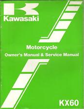 1983 KAWASAKI MOTORCYCLE KX60 P/N 99920-1214-01 OWNERS SERVICE MANUAL (672)
