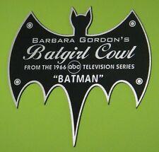 CUSTOM 1966 BARBARA GORDON BATGIRL COWL DISPLAY NAME PLATE BATMAN TV SERIES