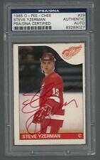 STEVE YZERMAN SIGNED 1985 O-PEE-CHEE RED WINGS CARD #29 PSA/DNA Auto