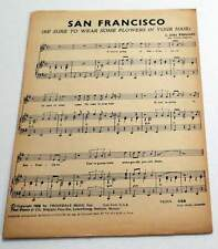 Partition sheet music JOHN PHILIPS : San Francisco + 1 CLAUDE FRANCOIS * 60's