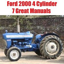 Ford 2000 4 Cylinder Tractors SERVICE REPAIR PARTS OWNERS Manual CD Lot Manuals