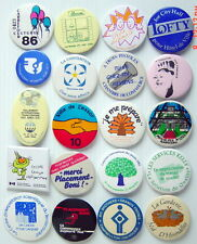LOT OF 20 1970-80'S PIN BADGES FRENCH, (MISCELLANEOUS)
