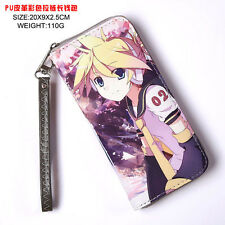 Anime ACG PU Long Wallet with Zipper Printed w-Vocaloid 2 Kagamine Rin/Len