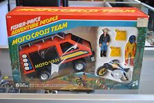 UNOPENED! New 1983 Fisher-Price Adventure People Moto Cross Team 335 Moto Van