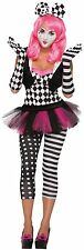 Harlequin Clown Black & White Opera Gloves Halloween Fancy Dress Accessory P9390