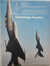 5/1981 PUB GENERAL DYNAMICS F-16 FIGHTING FALCON USAF TACTICAL FIGHTER WING AD