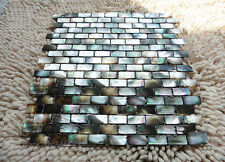 Black Lip Shell Mosaic Tile Mother of Pearl Kitchen Backsplash Decoravtive Wall