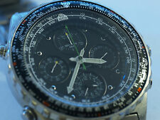 Gents SEIKO 7T34 Sport 150 Pilot Master Chronograph Stainless Steel Quartz Watch