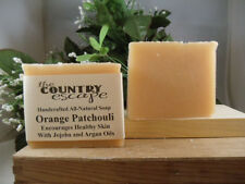Orange Patchouli  Bath Soap- Handcrafted - Organic - Vegan - Natural - Homemade