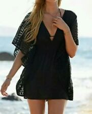 Victoria's Secret Cover-Up Plunge-Front Caftan Swim Crochet Small $79