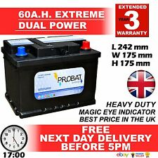 60 ah amp Leisure Battery DUAL POWERow Height maintenance free sealed 80 85 L