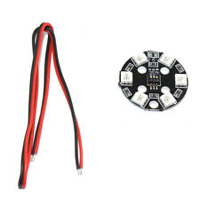 F16186 RGB 5050 LED Light Board X6/12V 7 Colors Switch Round for RC 250 QAV250