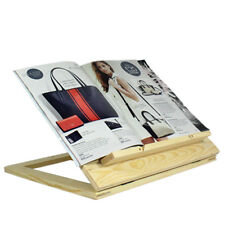 Adjustable Ipad Kindle Tablet Stand Wooden Foldable Cook Book Holder Bracket
