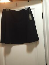 VINCE CAMUTO NAVY POLYESTER KNEE LENGTH A LINE SKIRT .SZ:10""