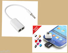 ✔COMBO MINI OTG Cable + Headphone Earphone 3.5mm AUDIO Stereo Y Splitter Cable✔