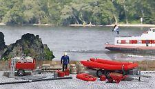 BUSCH 1077 Feuerwehr-Set Hochwasserschutz H0 #NEU in OVP#