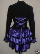 Goth Black Purple BUSTLE corset jacket 12 victorian steampunk Whitby coat  SML