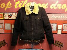 "GIRL'S,FACINATE,BUST:36"",BLACK,CORDUROY,TWO WAY ZIPPER,JACKET,MEDIUM"