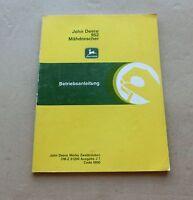 John Deere Mähdrescher  952  Betriebsanleitung Original