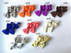 99p for 2 SALE baby/girls hair slides plain styleUK stock alligator clips bows
