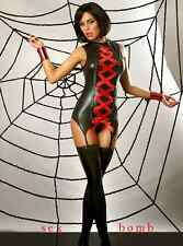 SEXY corsetto GUEPIERE+TANGA effetto bagnato tg S/M o L/XL lingerie GLAMOUR