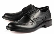 Antonio Maurizi Brogue Wingtips 43 EU 10 US Italy FREE US Ship Scalloped NERO