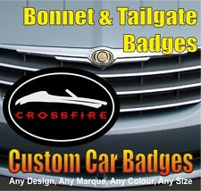 Chrysler Crossfire Roadster Grille and Tailgate Badges (black/chrome/red)