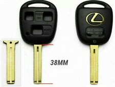 New Replacement Key Case Shell Keyless Remote Fob Uncut Blade Lexus Gold Logo