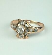 Dainty 14K Antique Rose-Cut Diamond Ring