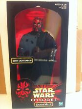 "Star Wars Episode 1 DARTH MAUL  With Light Saber 12"" Figure  MISB New"