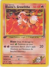 POKEMON CARD 1ST EDITION BLAINE'S GROWLITHE GYM HEROES MINT 62/132
