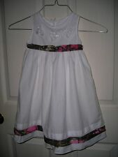 Child's Girl's Camouflage Dress Wedding Pageant formal SZ 3 White with Pink Camo