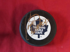 Randy Wood  Autograph Hockey Puck Toronto Maple Leaves