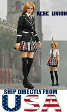 "1/6 Women Clothes Girl School Uniform Set For 12"" Phicen Hot Toys U.S.A. SELLER"
