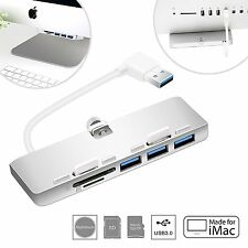 Cateck Ultra-thin Premium Aluminum 3-Port USB 3.0 Hub with SD/TF Card Reader For